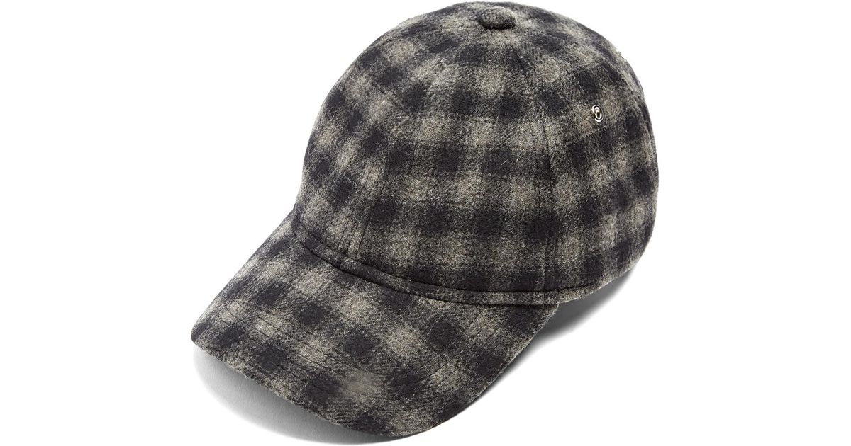Lyst - A.P.C. Louis Check Cap in Gray for Men 59f4b3f0591