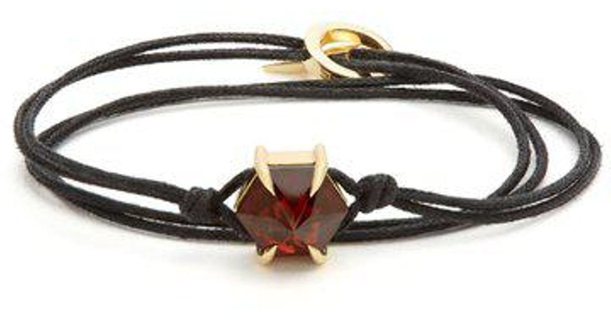 Ara Vartanian X Kate Moss garnet & yellow-gold bracelet HoLEp