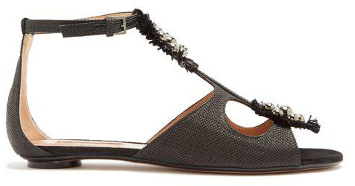 Sandales De Raphia Stud-embelli Liya Samuele Failli gJS2M