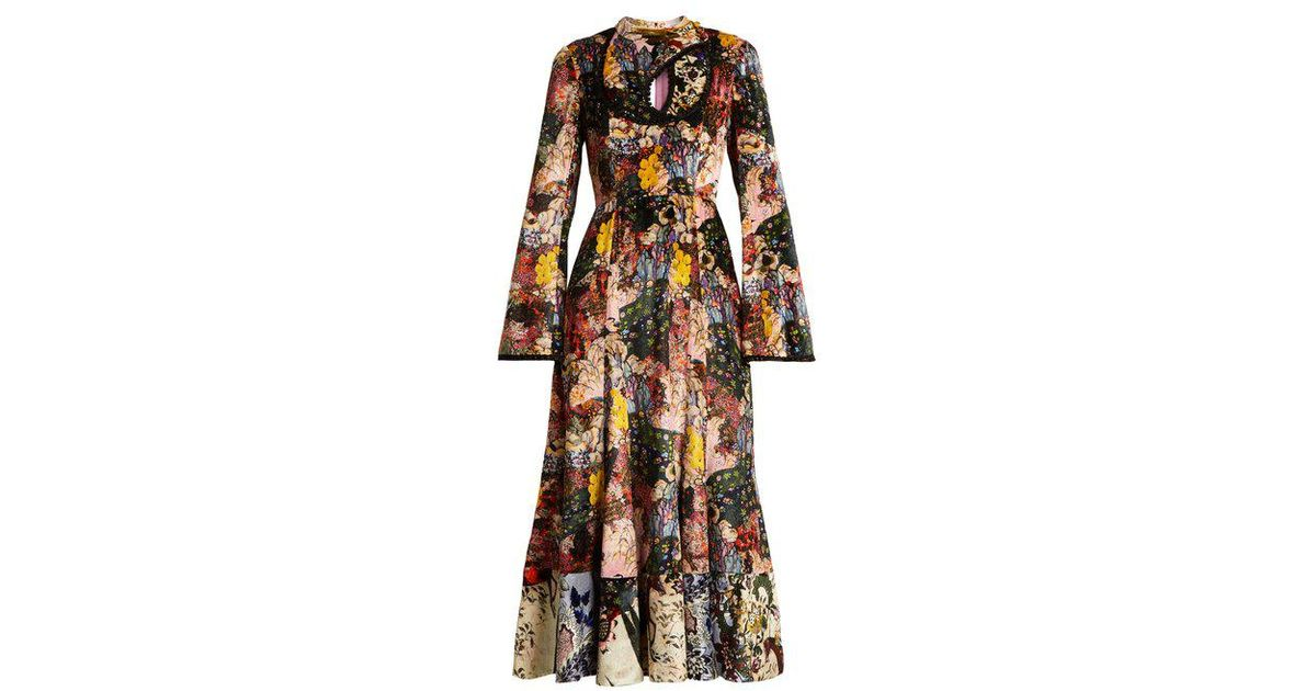 Zuzanna Kayis Mountain-print velvet dress Erdem r5jfQQj