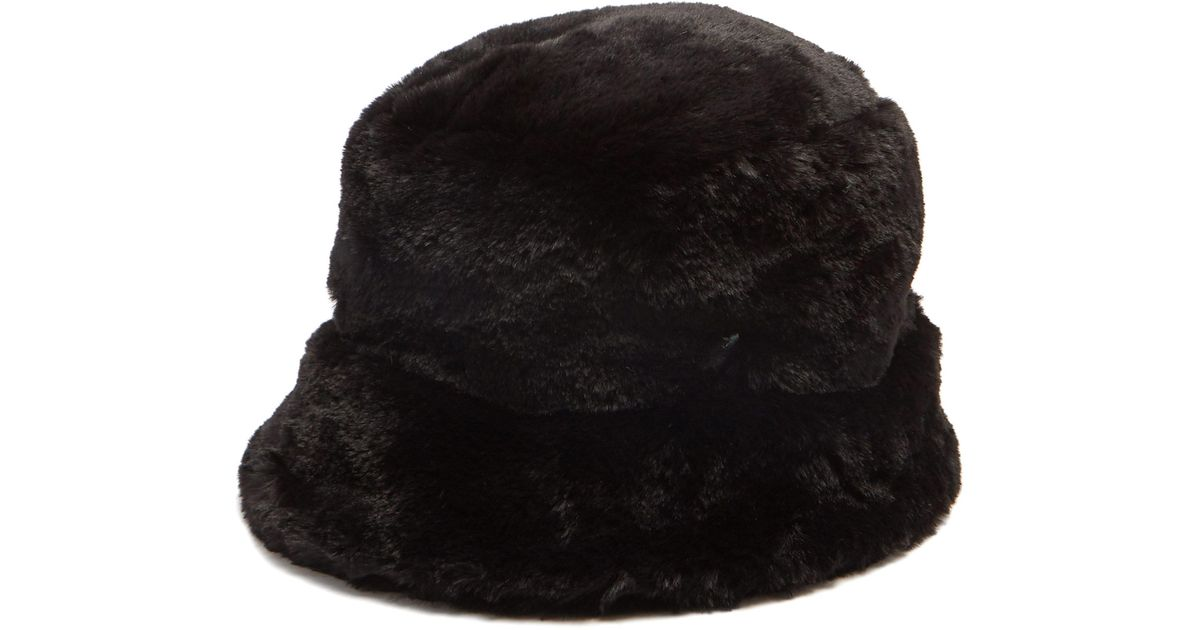 10bf63e09af06 Filù Hats Madison Eco Faux Fur Bucket Hat in Black - Lyst