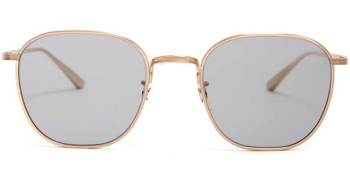 91eaf54bd8 Lyst - The Row X Oliver Peoples Board Meeting 2 Sunglasses in Metallic