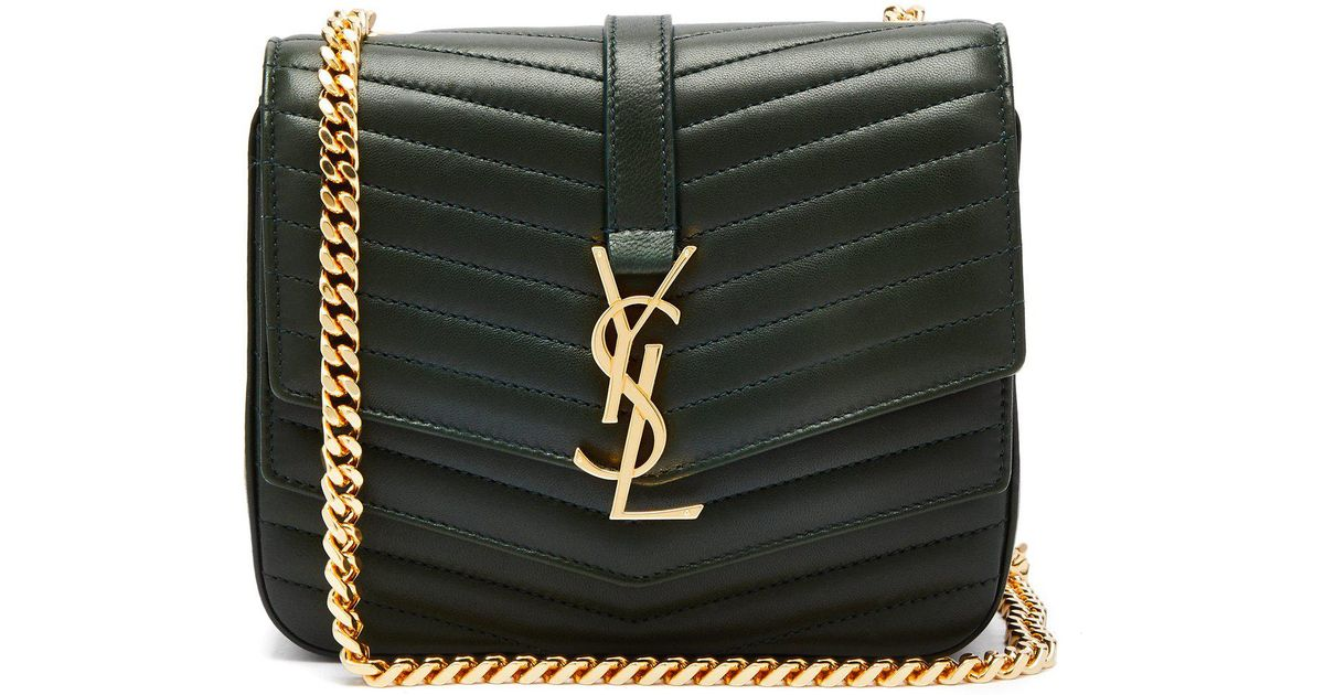 8befb3975555 Lyst - Saint Laurent Sulpice Small Leather Bag in Green