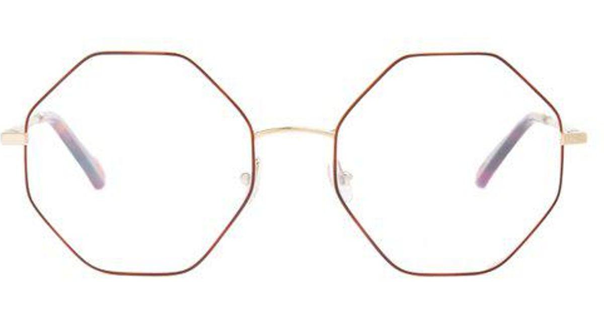 a6b5d0a62bb Chloé Poppy Hexagon Frame Glasses - Lyst