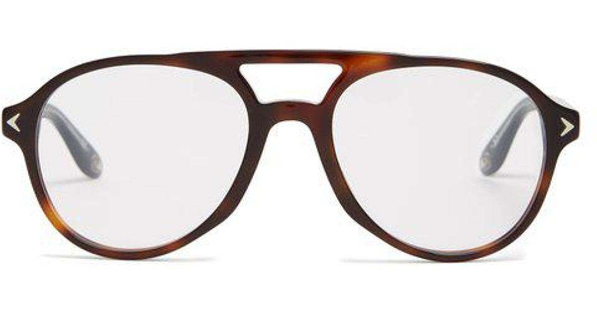 Givenchy Aviator Frame Acetate Glasses - Lyst 41842ada39fd