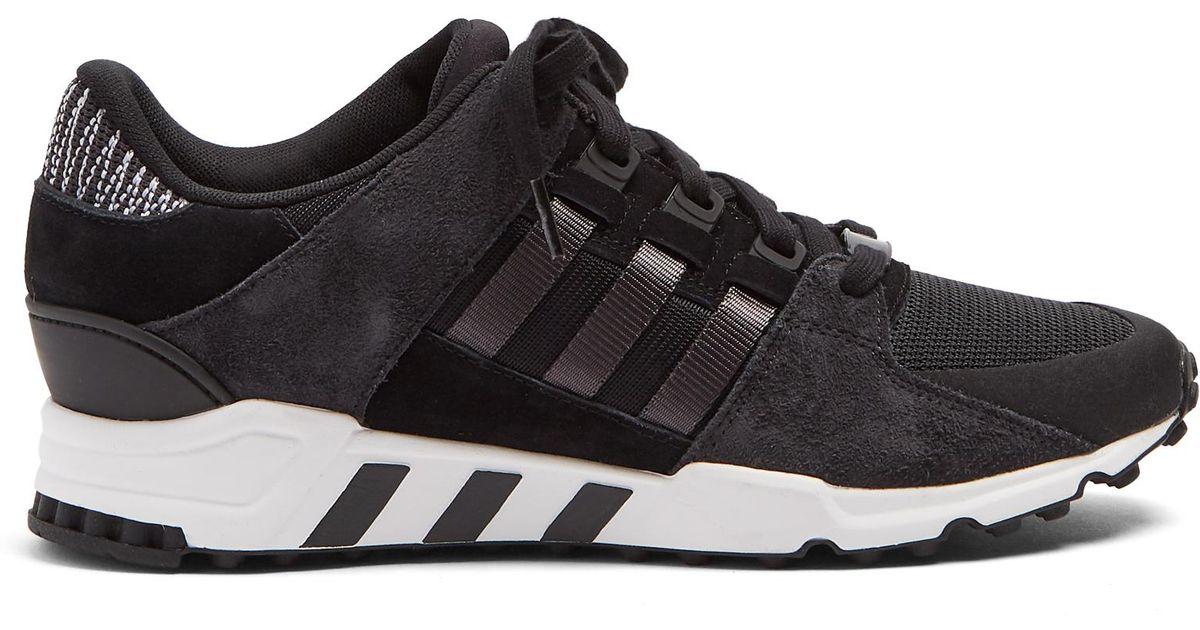 brand new aa2b1 bac3c Adidas Originals - Black Eqt Low-top Trainers for Men - Lyst