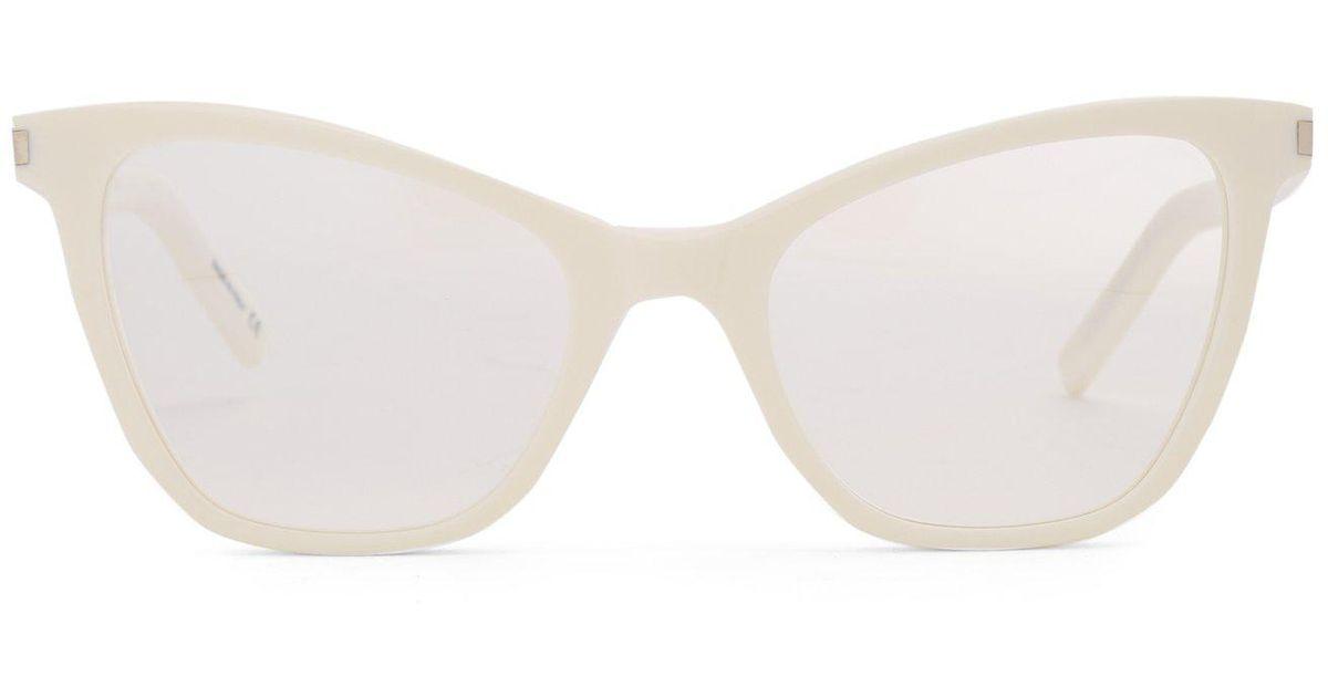 f021968e3d8 Lyst - Saint Laurent Monogram Cat Eye Square Frame Glasses