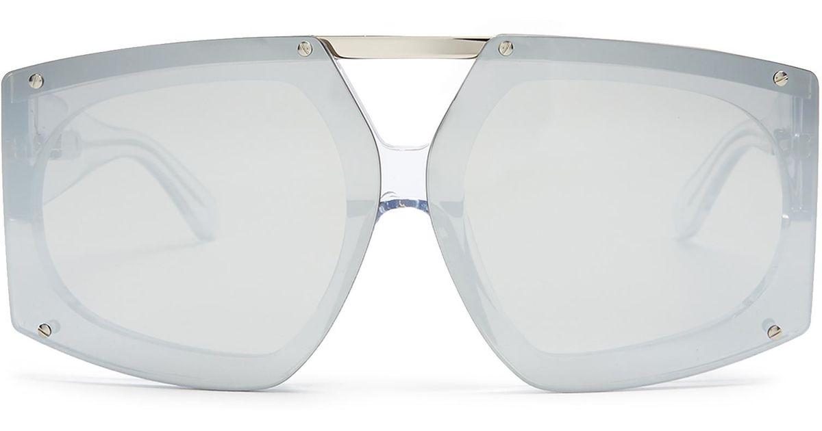 9d95c8670737 Lyst - Karen Walker Salvador Shield-frame Sunglasses