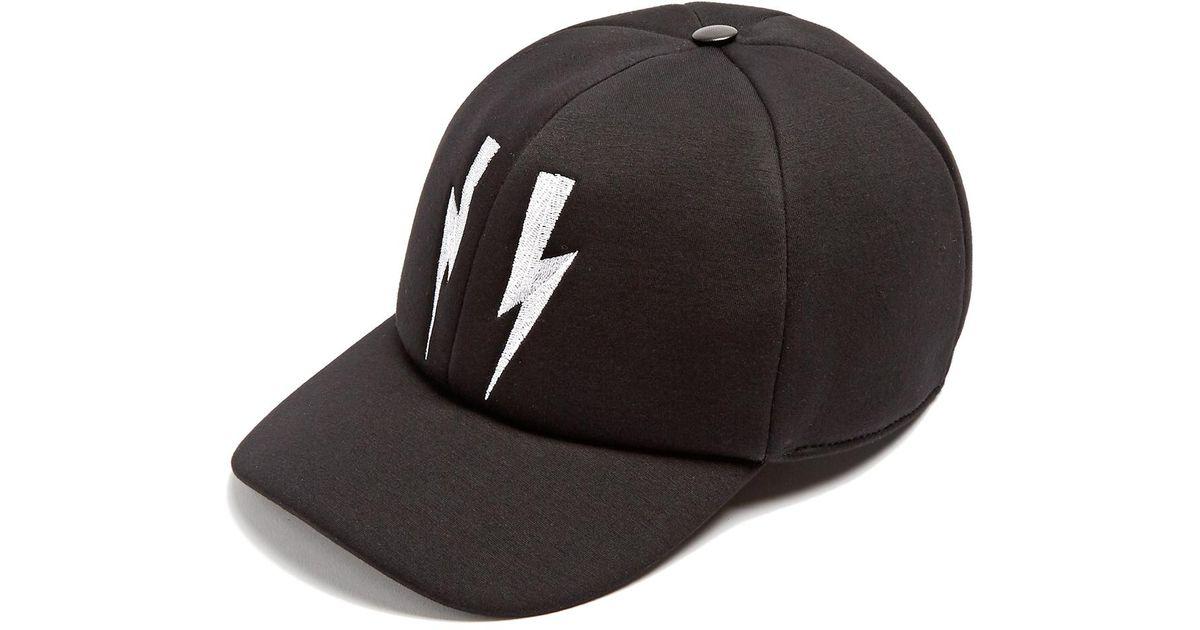 Lightning-bolt quilted cap Neil Barrett mib4y7rny5