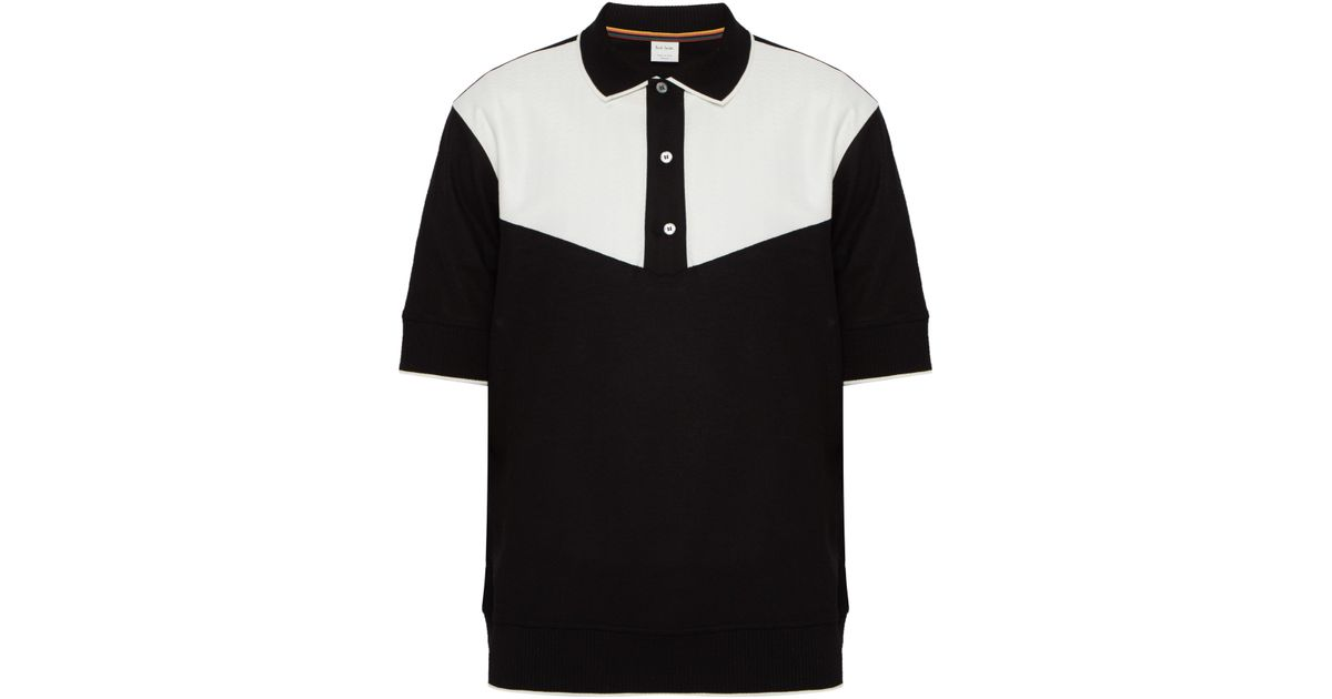 8a8f9b0b2250 Paul Smith Black And White Gents Polo in Black for Men - Lyst