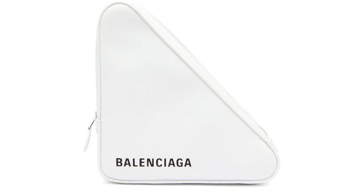 Triangle Pochette M leather clutch Balenciaga lCeQY