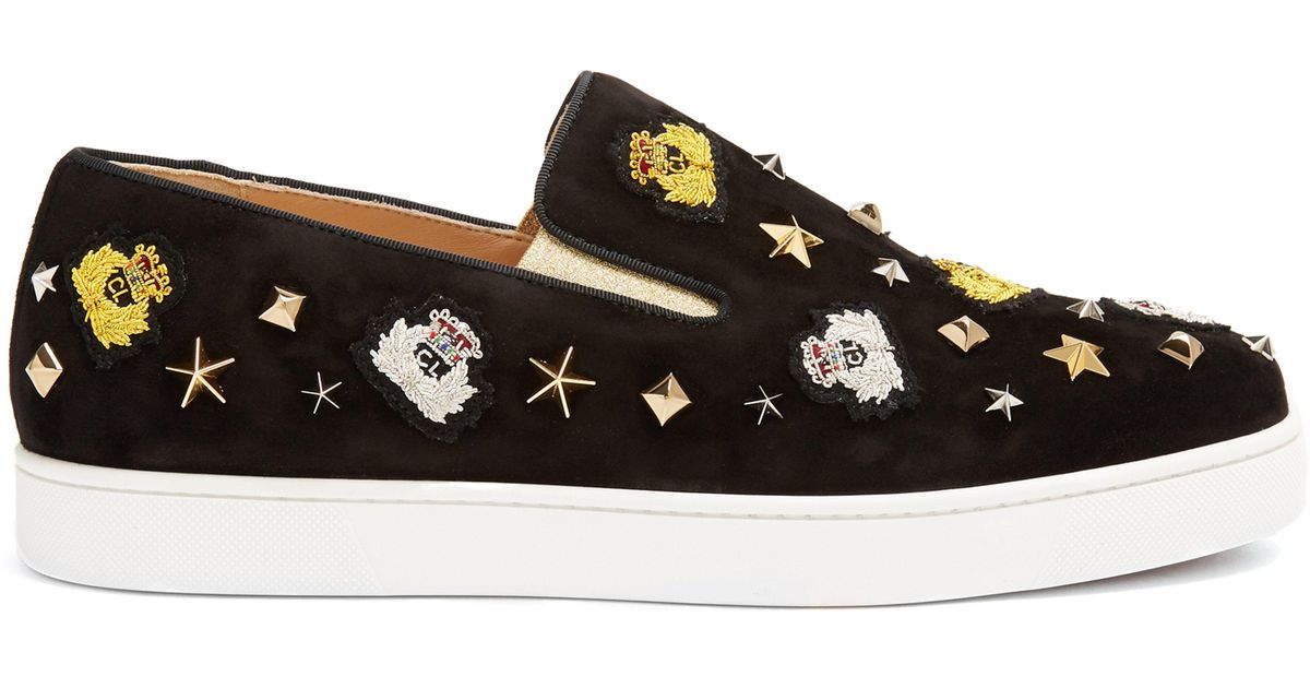 27c9c47d3b0 christian-louboutin-black-multi-Mister-Academy-Embellished-Slip-On-Suede-Trainers.jpeg