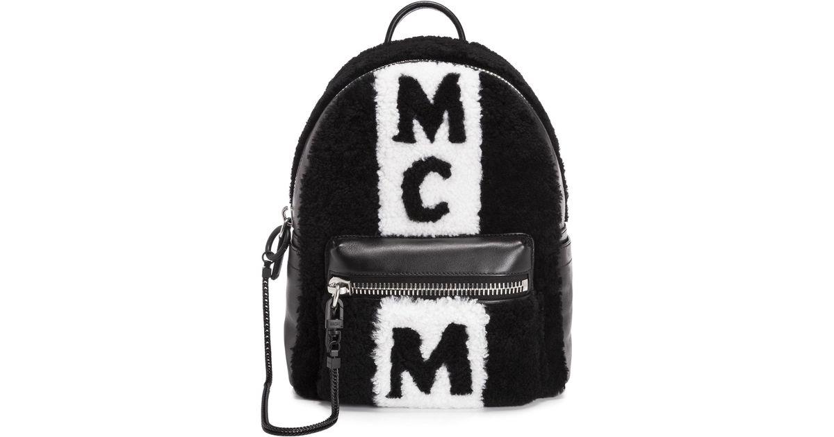 MCM Rucksack Shear Stripe Backpack Small Black in schwarz für Damen