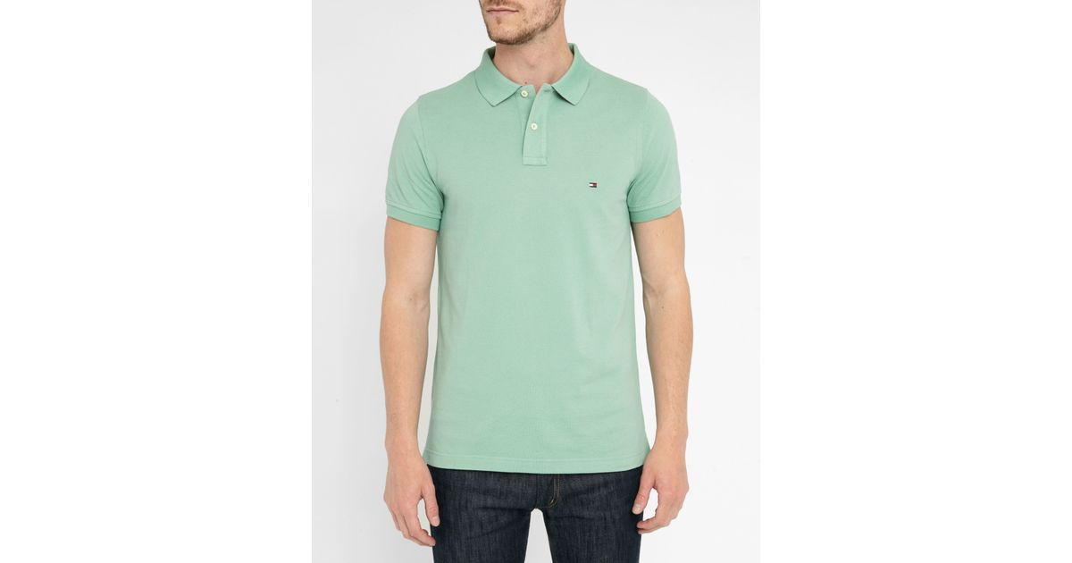 tommy hilfiger aqua pr slim fit polo shirt in green for men lyst. Black Bedroom Furniture Sets. Home Design Ideas