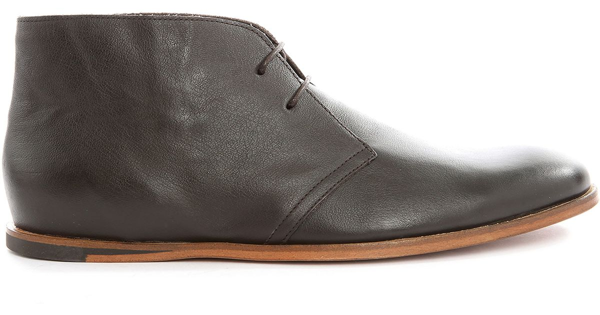 opening ceremony brown leather desert boot shoes in brown