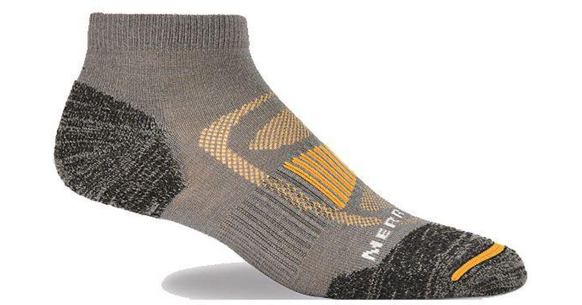 d73260a308d Merrell - Gray Zoned Low Cut Light Hiker Sock for Men - Lyst