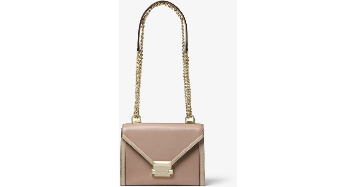 9d3b7ab650045b Michael Kors Whitney Small Two-tone Leather Convertible Shoulder Bag - Lyst