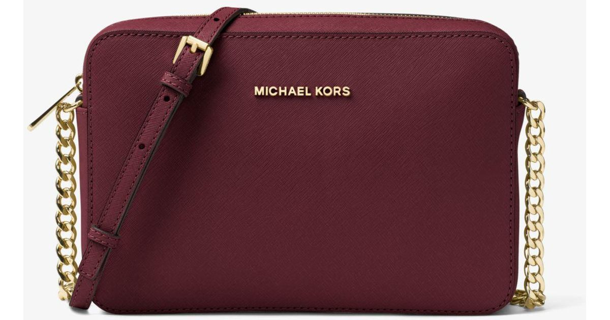 4010633a4696 ... Kors Jet Set Large Saffiano Leather Crossbody Bag; Womens Crossbodies;  Lyst; Michael ...