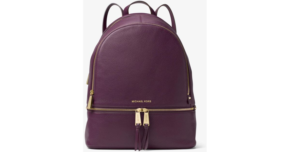 f09a2b0c651c Michael Kors Rhea Large Leather Backpack in Purple - Lyst