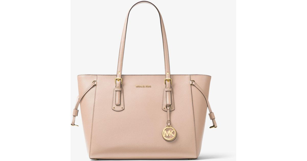 ed173607f428 Michael Kors Voyager Medium Leather Tote in Pink - Lyst
