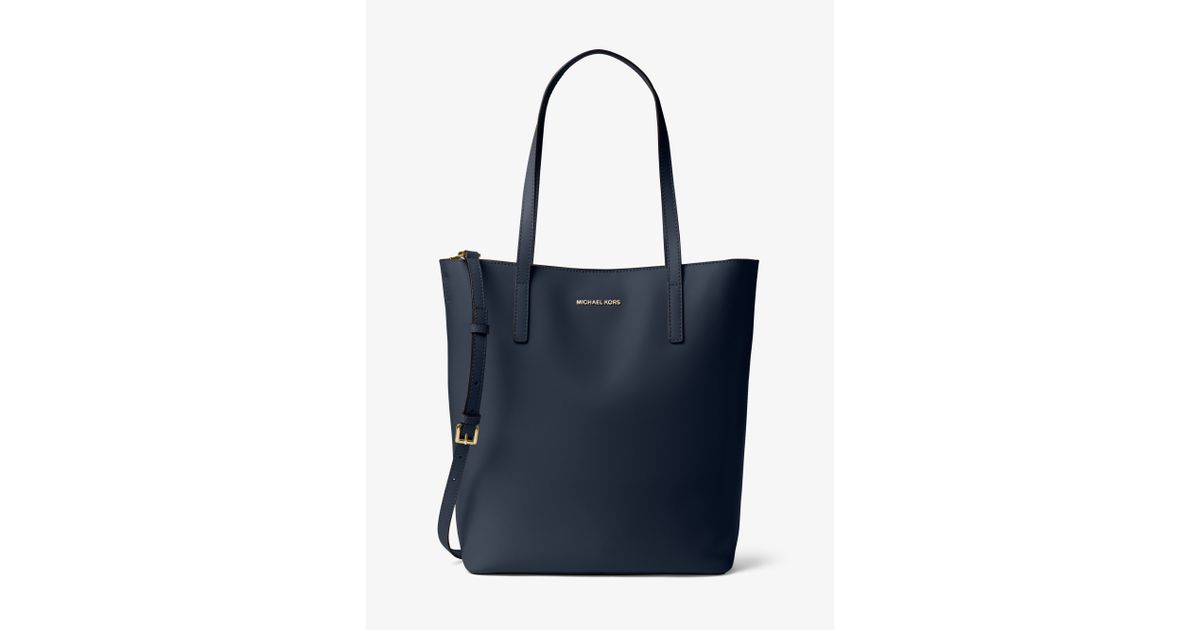 6a9adb4841f744 ... closeout lyst michael kors emry large leather tote in blue 23dd7 2c04d