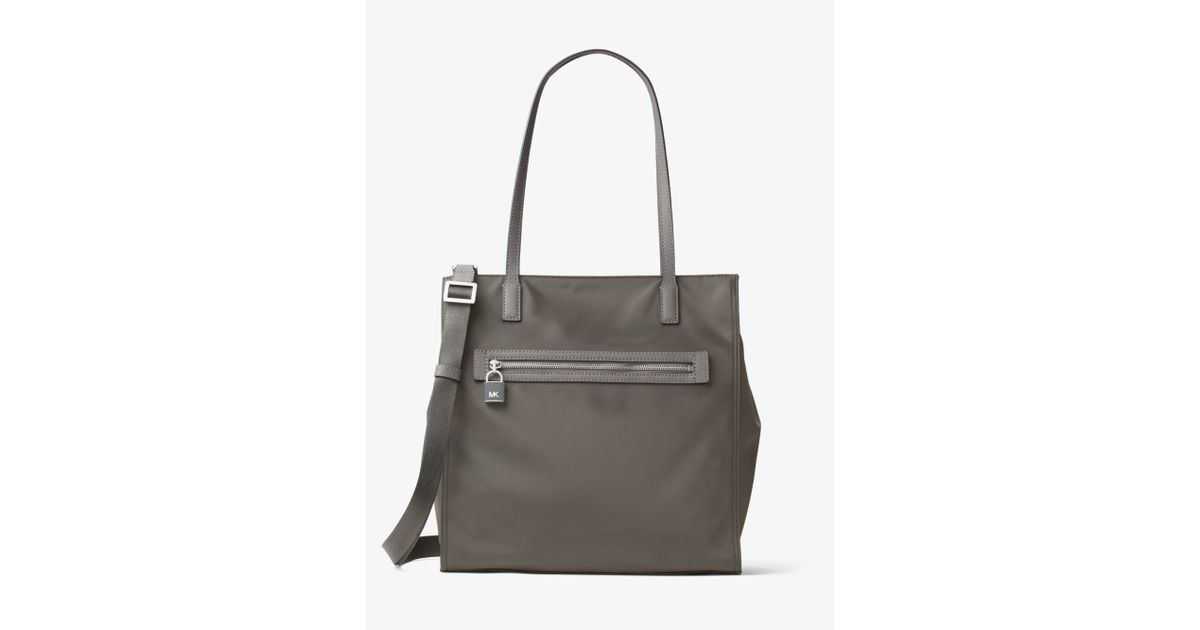 5a97670ddbb171 Michael Kors Janie Large Nylon Tote in Gray - Lyst