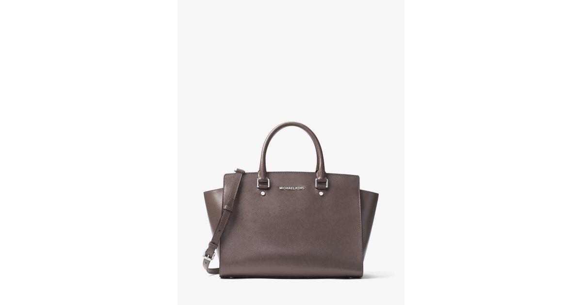 95e82b3ae4a5 ... Michael kors Selma Large Patent-leather Satchel Lyst ...