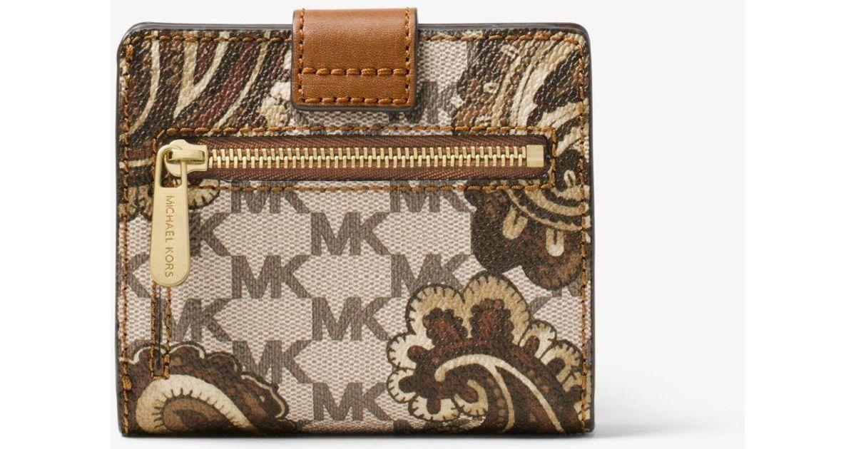 882cdca900de Lyst - Michael Kors Natalie Medium Heritage Paisley Wallet