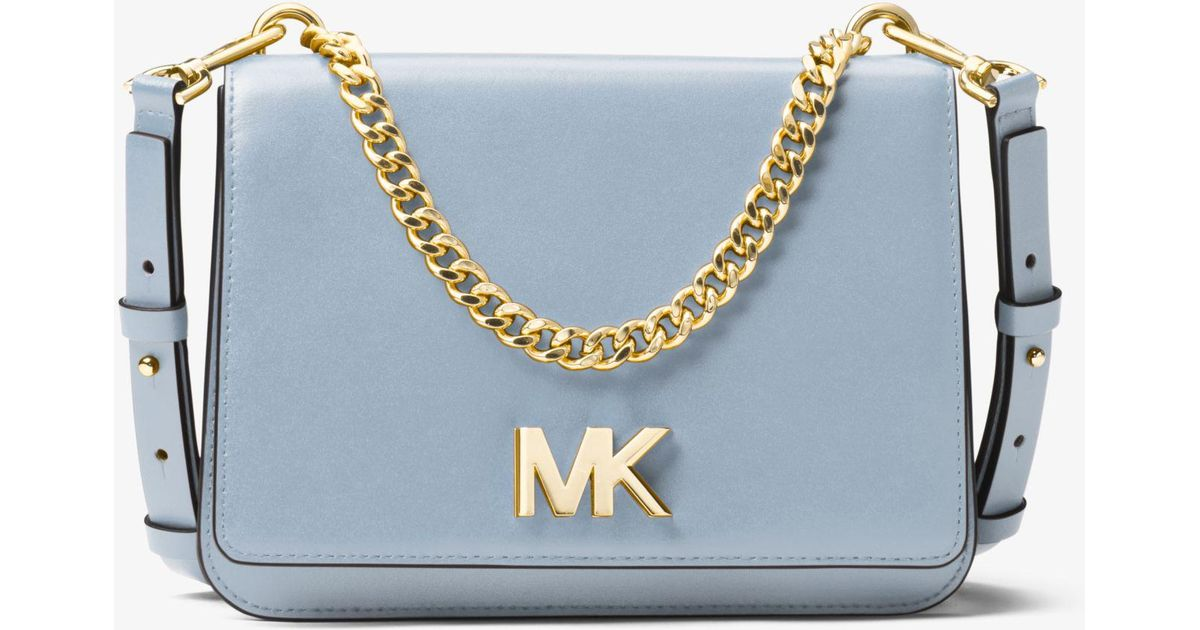 5ff005558cad Michael Kors Mott Leather Crossbody Bag in Blue - Lyst
