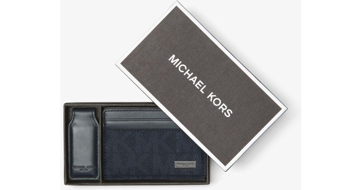3c82684f1a67 Lyst - Michael Kors Money-clip Card Case in Blue for Men