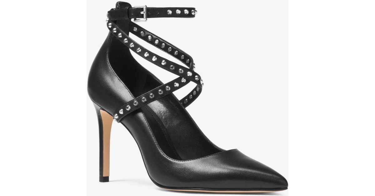 e21ef0e28631 Lyst - MICHAEL Michael Kors Jeannie Studded Leather Pump in Black