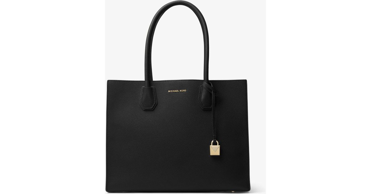 fa916d02d870 Lyst - Michael Kors Mercer Extra-large Leather Tote in Black
