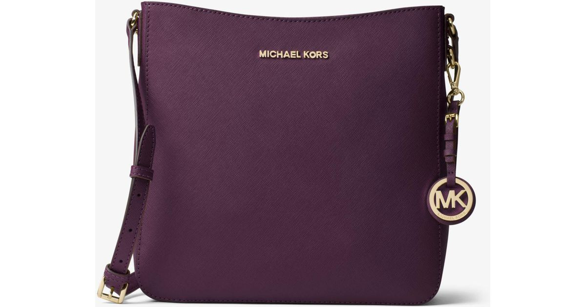 2bf7397cd209 Michael Kors Jet Set Travel Large Saffiano Leather Crossbody - Lyst