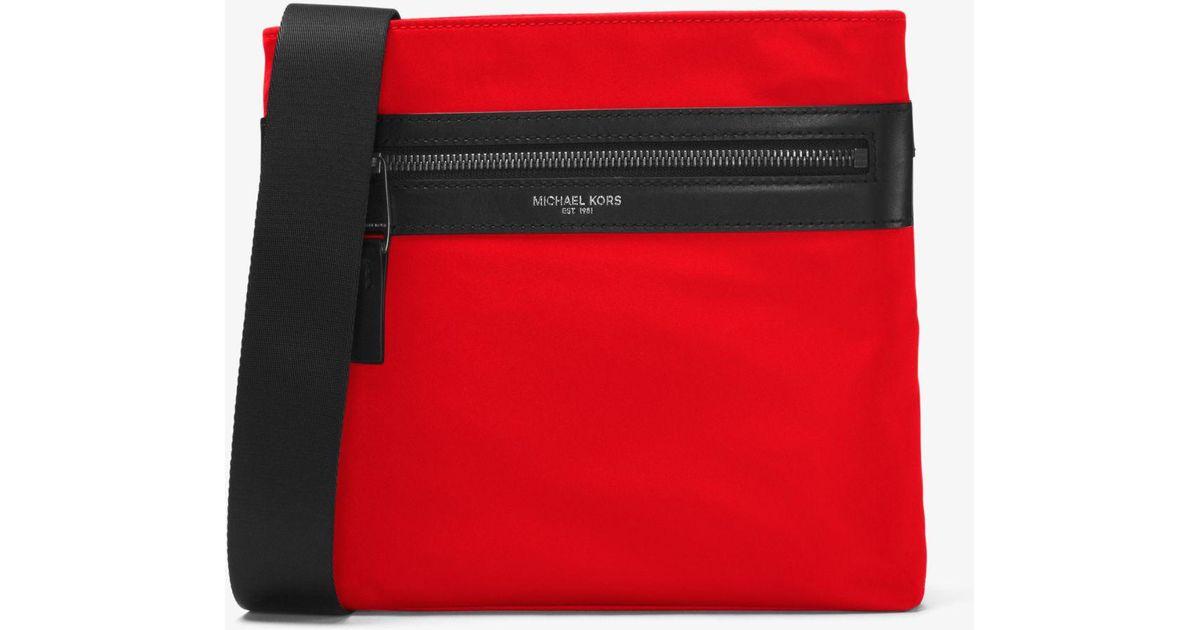 358a8da00537 Michael Kors Kent Small Nylon Crossbody in Red for Men - Lyst