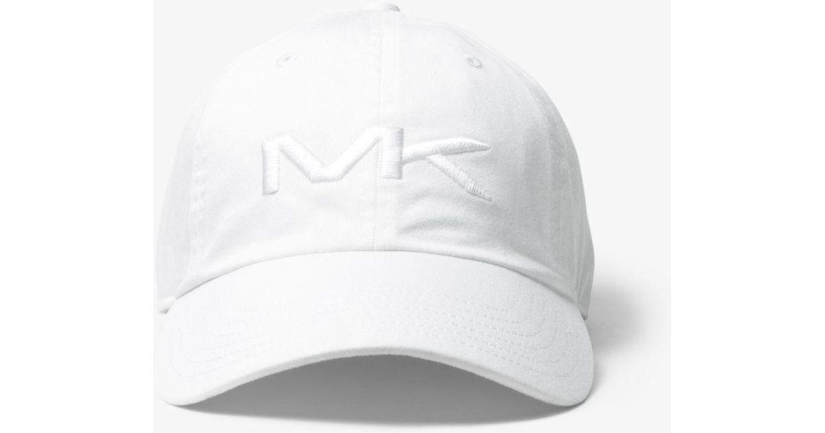 3b5985865c7 Lyst - Michael Kors Logo Cotton Baseball Hat in White for Men