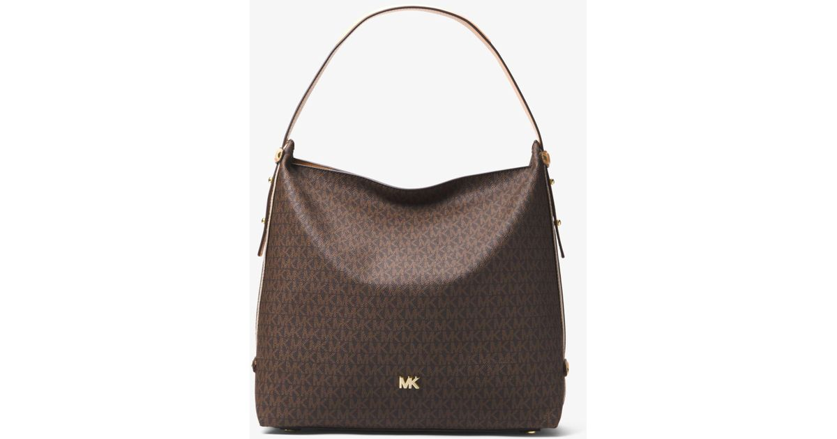 0a1756242573 Michael Kors Griffin Large Logo Shoulder Bag - Lyst