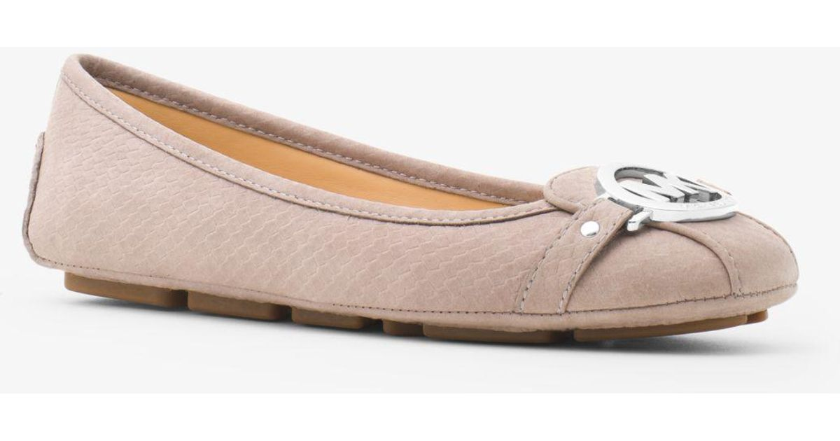 a27254491ef6 Lyst - Michael Kors Fulton Embossed-leather Moccasin