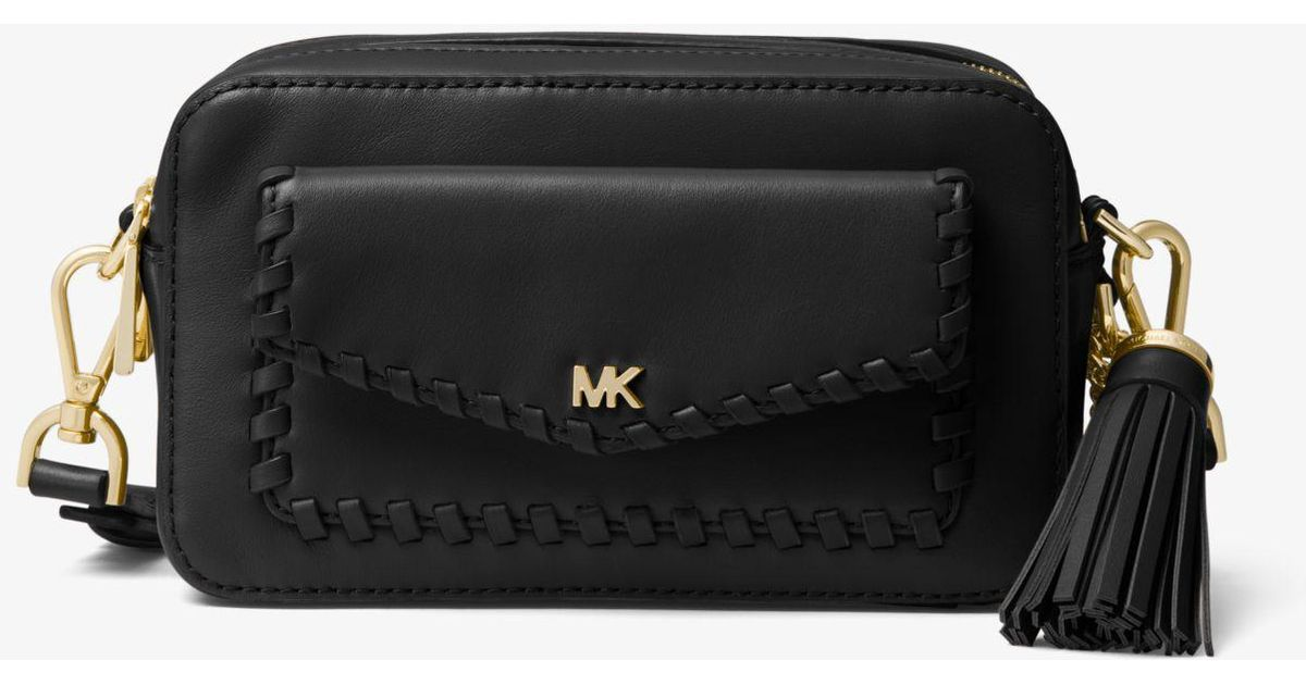 8031f4a1ba21 MICHAEL Michael Kors Small Pebbled Leather Camera Bag in Black - Save 8% -  Lyst