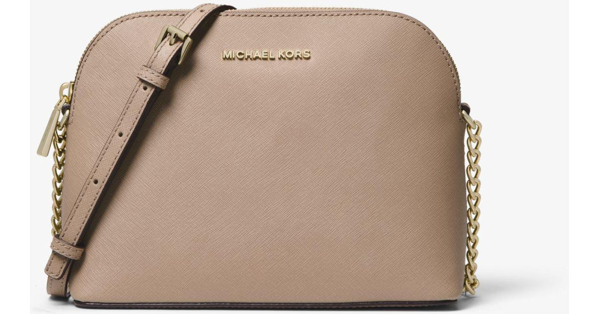 d46fb4c95e44 Lyst - Michael Kors Cindy Large Saffiano Leather Crossbody in Brown