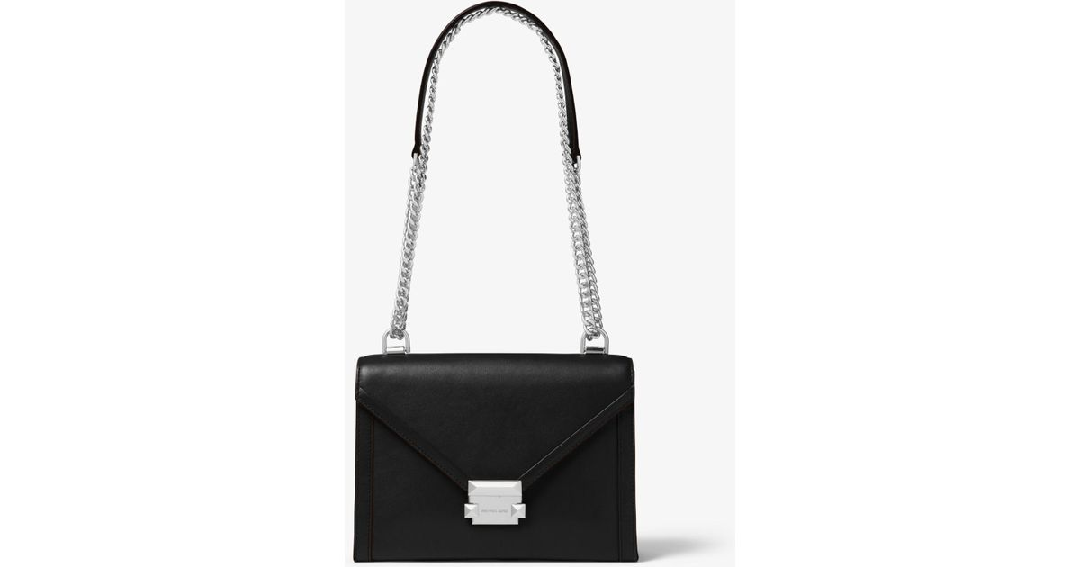 d011b3c6a32664 Michael Kors Whitney Large Leather Convertible Shoulder Bag in Black - Save  2% - Lyst