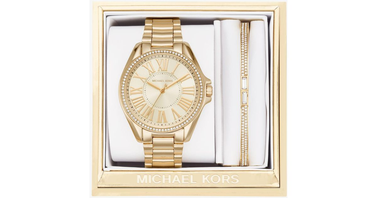 b42aaa566c1a Lyst - Michael Kors Kacie Gold-tone Gift Set in Metallic