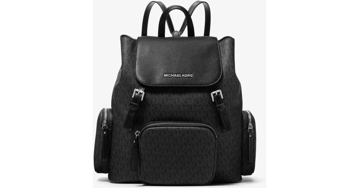 c4358e8435a8 Michael Kors Abbey Large Logo Cargo Backpack in Black - Lyst