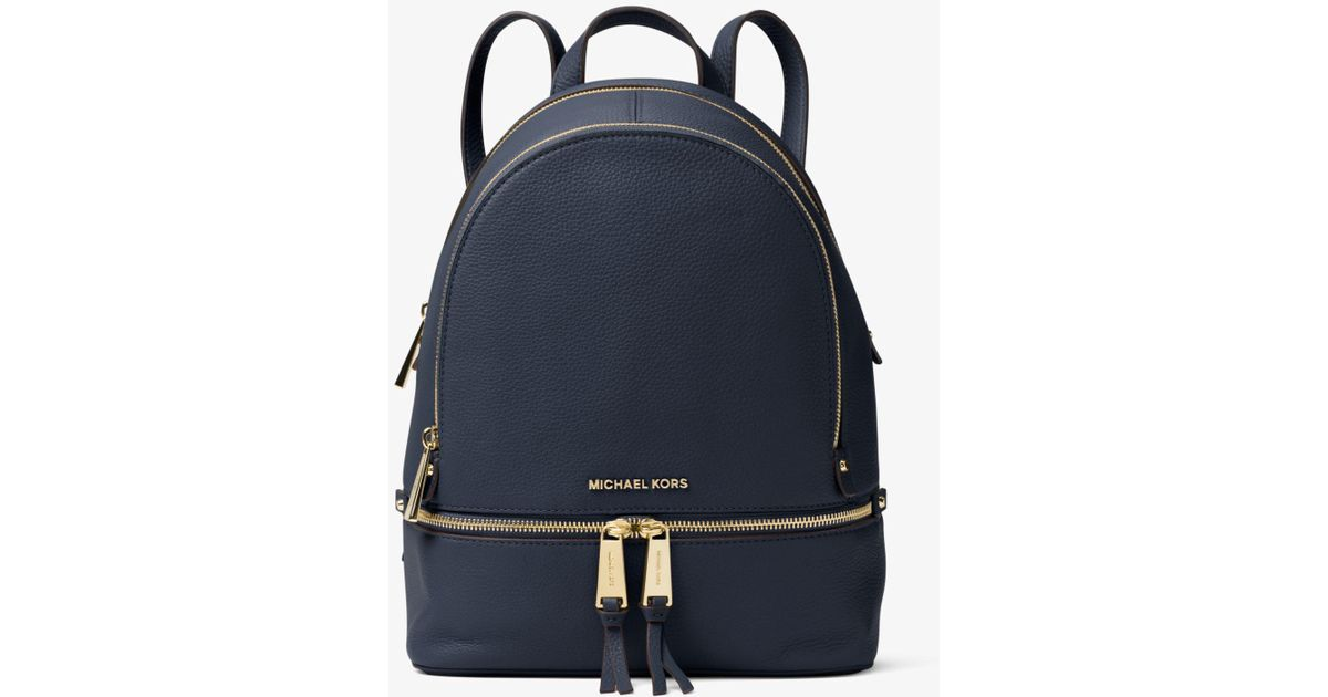 8e58e363266f Michael Kors Rhea Medium Backpack in Blue - Lyst