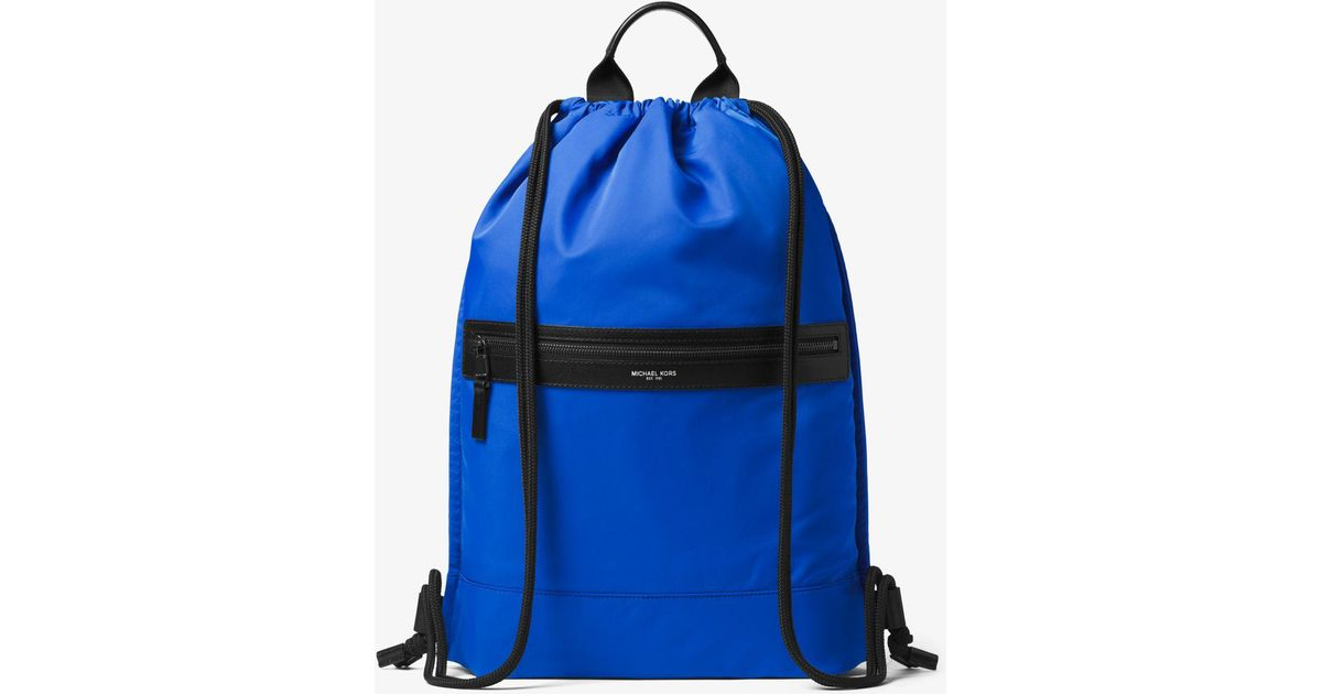 d8160327cf08 Michael Kors Kent Nylon Drawstring Backpack in Blue for Men - Lyst