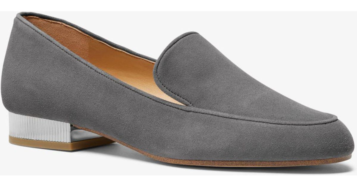 c395f31bcb7 Lyst - Michael Kors Valerie Suede Loafer in Gray
