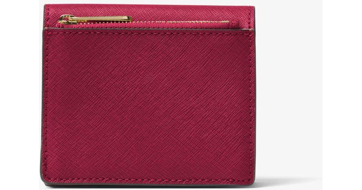 cd7535f789f5 Lyst - Michael Kors Travel Saffiano Leather Card Holder