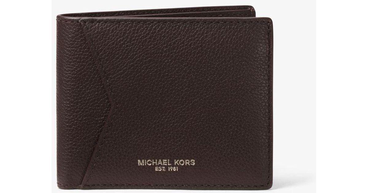 852b12ec34cb Michael Kors Bryant Slim Id Leather Billfold Wallet in Brown for Men - Lyst