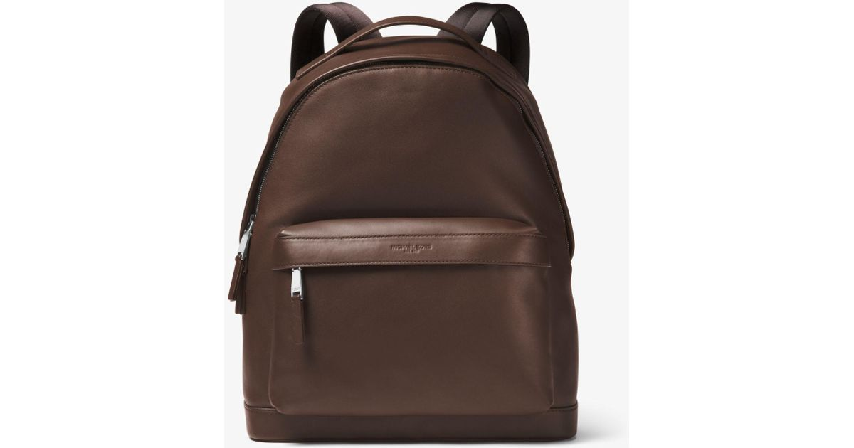 be8ba0d129ab Lyst - Michael Kors Odin Leather Backpack in Brown for Men