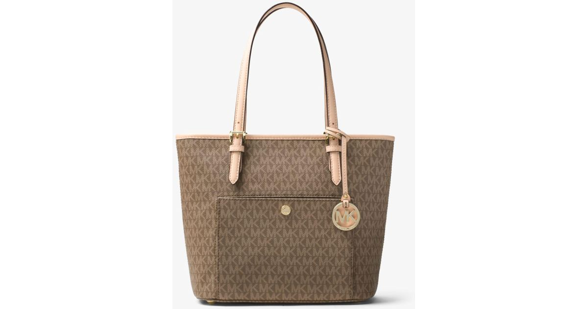 07a5ebbbfd3e Lyst - Michael Kors Jet Set Travel Medium Logo Tote