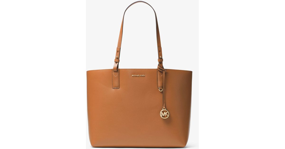 30e3952c08eced Lyst - Michael Kors Cameron Large Leather Reversible Tote